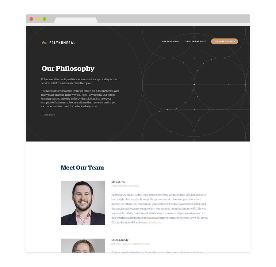 Polynumeral » New York City WordPress Design + Development » handiwork